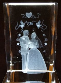 Wedding - Wedding and Love 3D Crystal - Ovid Gifts