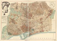 BCN alrededores Serra 1890 - Agregaciones municipales de Barcelona - Wikipedia, la enciclopedia libre