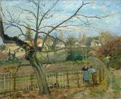 Camille Pissarro  The Fence, 1872  Collection of Mr. and Mrs. Paul Mellon - National Gallery - Washington, DC