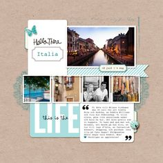 4 photos + travel + journal cards