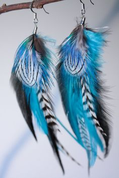 blue feather earrings #SephoraColorWash