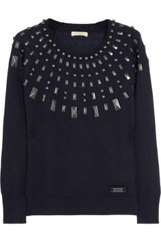 Burberry Brit | Embellished wool-blend sweater | NET-A-PORTER.COM