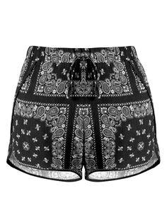 Paisley Shorts - Black Version