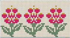 Tiny Cross Stitch, Cross Stitch Bookmarks, Beaded Cross Stitch, Cross Stitch Borders, Cross Stitch Designs, Cross Stitching, Cross Stitch Patterns, Knitted Mittens Pattern, Fair Isle Knitting Patterns