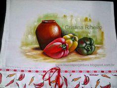 Loucos por pintura : Pintando pimentões com vaso