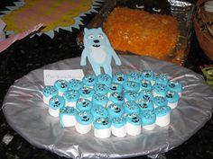Toodee Marshmallows dipped in Wilton chocolate for my son's Yo Gabba Gabba birthday party