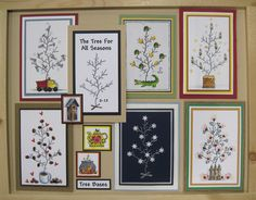 Misc. Tree For All Seasons Board - To see more ideas and order Stamps by Judith & Heather go to www.stampsbyjudith.com