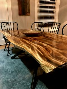 Pod dinning room table (Fiji Sourced Monkey Pod)Monkey Pod dinning room table (Fiji Sourced Monkey Pod) Save a lot of time through smooth the sealant while the sealant coming out Live edge dining table Live edge with a hand crafted trestle Mesa Live Edge, Live Edge Table, Live Edge Furniture, Wood Furniture, Furniture Design, Asian Furniture, Furniture Making, Modern Furniture, Unique Dining Tables