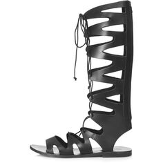 TOPSHOP FIGTREE Gladiator Sandals ($85) ❤ liked on Polyvore