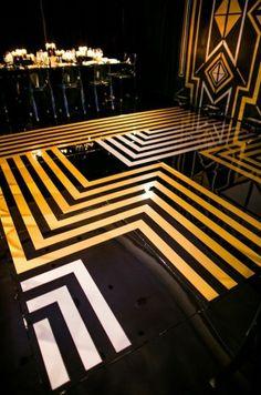 It's golden perfection - Art Deco | Geometric Detailed Floor | 30 Rocks | White Lilac Inc.