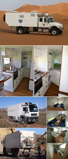 UNICAT TerraCross Expedition Vehicle Looks Like a Garbage Truck, But Step Inside? It's a Survival Home on Wheels Off Road Camper, Truck Camper, Camper Trailers, Overland Truck, Expedition Vehicle, Kenworth Trucks, 4x4 Trucks, Kombi Motorhome, Garbage Truck