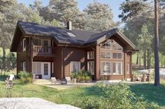 High-quality log home kits for healthy and organic living - Honka Log Home Kits, Cabin Kits, Organic Living, House Windows, Build Your Dream Home, Scandinavian Home, Log Homes, Custom Homes, My House