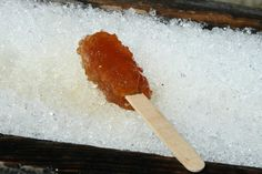 Tire sur la neige (maple syrup on a stick) By far the best Canadian treat!