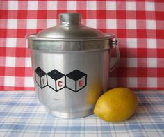 Vintage Alpine Brushed Aluminum Ice Bucket with by LucyBettyNJune