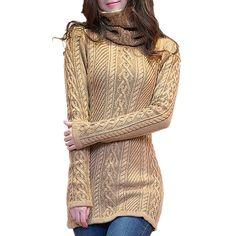 d9bfe0ce7c Yueqier Women's Turtleneck Long Sleeve Cardigan Knit Sweater Dress at Amazon  Women's Clothing store: