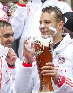 FC Bayern München Triple-Party 2013. I watched this in an illegal Internet stream.