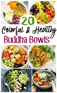 20 of our FAVORITE Buddha Bowl Recipes that will keep you energized and feeling nourished ALL day long. Plus they are STUNNING! 20 of our FAVORITE Buddha Bowl Recipes that will keep you energized and feeling nourished ALL day long. Plus they are STUNNING! Whole 30 Recipes, Raw Food Recipes, Juice Recipes, Keto Recipes, Healthy Recipes For One, Heart Healthy Meals, Vegetarian Diabetic Recipes, Crockpot Recipes, Whole 30 Vegetarian