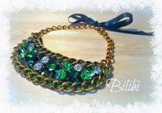 Bib necklace verde smeraldo