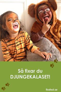 Så fixar du barnkalas med djungeltema - maten, dekorationerna, lekarna och mycket mer! #barnkalas #kalas #djungel #djungelkalas #djungeltema #safari #lekar #barnkalaslekar #kalaslekar