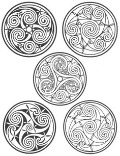 """These are all celtic knots that are generally called """"Ceilidhs,"""" which in Gaelic means a community gathering and celebration. It's pronounced, """"Kay-Lee"""" Like me. ^_^ Possible tattoo ideas down the road"""