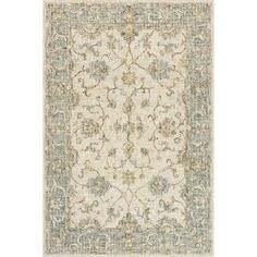 """Hand-hooked Traditional Ivory/ Taupe Mosaic Wool Rug - 3'6"""" x 5'6"""" - Free Shipping Today - Overstock - 26949400"""