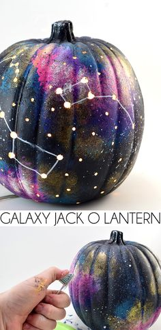 Make a galaxy pumpki