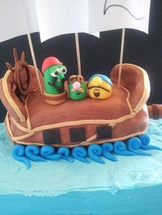 Veggie Tales: The Pirates Who Don't Do Anything!  Cake by Cakefairy