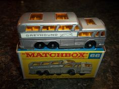 Vintage Lesney Matchbox 66 Greyhound Bus Original Box