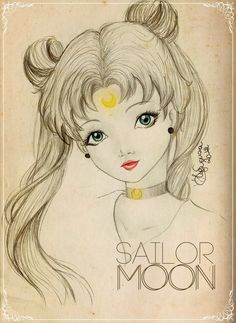 Sailor MOON by HigSousa on deviantART I love the eyes in this pic