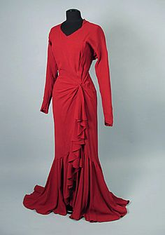 1949 Jacques Fath Evening Gown.