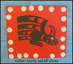 rubberboots and elf shoes: button blankets - a First Nations tradition from the NorthWest Coast Aboriginal Symbols, Aboriginal Education, Aboriginal Culture, Aboriginal Art, Multicultural Activities, Art Activities For Kids, Art For Kids, Sensory Activities, Family Activities