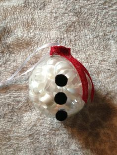 Handmade Snowman Christmas Ornament by kuteKrazyKreations on Etsy