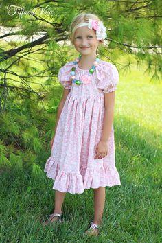 Marissa's Perfect Peasant Dress PDF Pattern sizes Newborn to Kids Plus Free Doll Pattern Peasant Dress Patterns, Princess Dress Patterns, Vintage Dress Patterns, Peasant Dresses, Pdf Sewing Patterns, Clothing Patterns, Doll Patterns, Crochet Patterns, Crochet Designs