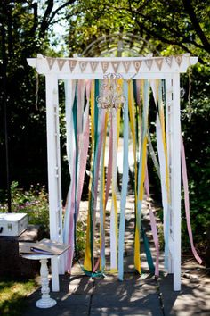 Ceremony alter - hmm wedding arch to put curtains and lights and or tulle