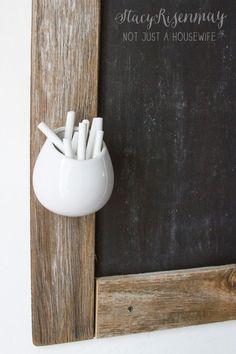 Decor Hacks :     chalk holder for chalkboard – using a planter    -Read More –   - #Hacks https://decorobject.com/hacks/decor-hacks-chalk-holder-for-chalkboard-using-a-planter/