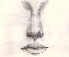 How to draw the nose and mouth