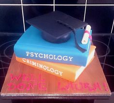 https://flic.kr/p/qFVBFu | #graduation #cake #cap #scroll #books #criminology #psychology like this one but with a psychology, education and top educational psychology, A&M somewhere