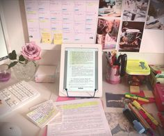 Desk ~ Study ~ Office Space ~ Pink ~ Girly ~ Stay Gold Always