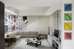 Extensive Collection of Art and Books Adorning the F5 Apartment in Stuttgart