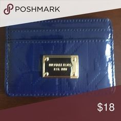 Michael Kors Credit card Blue Michael Kors. Used a few times. Michael Kors Bags