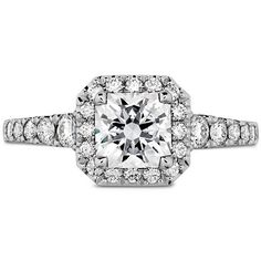 HEARTS ON FIRE Transcend Premier Dream Halo Engagement ring from Bernie Robbins Jewelers Check out more halo rings like this by clicking the link! Radiant Cut Engagement Rings, Heart Engagement Rings, Halo Engagement, Halo Diamond, Diamond Cuts, Diamond Rings, Diamond Jewelry, Fire Heart, All Nature