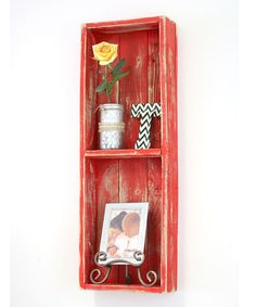 Loving this Red Double Shadowbox on #zulily! #zulilyfinds