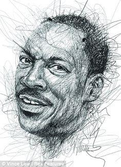 Eddie Murphy scribble portrait