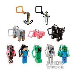 Minecraft Hangers Foil Bag-Single Keychain | Mr Toys Toyworld Online Australia