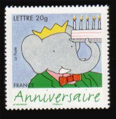 Babar stamp, France adoraba a Babar cuando era pequeña