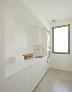 Laundry Design Ideas, Pictures, Remodel and Decor - architecture house Modern Laundry Rooms, Laundry In Bathroom, Ikea Laundry Room Cabinets, Cupboards, Laundry Area, Ikea Cabinets, Casa Clean, Laundry Room Inspiration, Laundry Storage