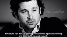 You broke her. You taught her time and time again that nothing she does, ever, is good enough.