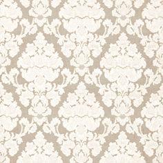 Montalcino Applique Damask | 66590 in Linen | Schumacher Fabric