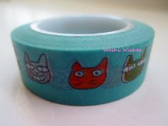 Japanese Washi Tape Roll of Adorable Cats by WashiWishes on Etsy