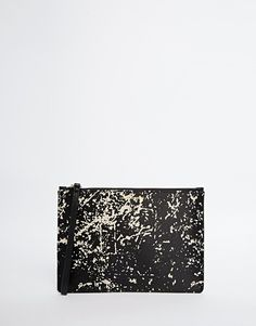 Product photo of Lulu guinness grace print clutch in satin